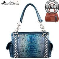 MW188G-8085 Montana West Concealed Handgun Collection Handbag-Turquoise