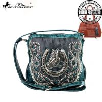 MW218G-8395 Montana West Horse Collection Crossbody Bag-Turquoise