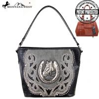 MW218G-916 Montana West Horse Collection handbag Bag-Black