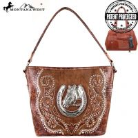 MW218G-916 Montana West Horse Collection handbag Bag-Brown