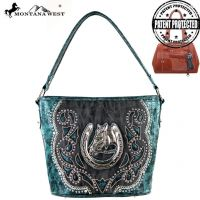 MW218G-916 Montana West Horse Collection handbag Bag-Turquoise