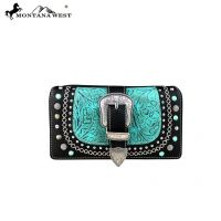 Montana West Buckle Collection Secretary Style Wallet MW583-W010