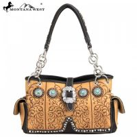 MW59-8085 Montana West Western Buckle Collection Handbag