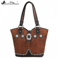 MW59-8096 Montana West Western Buckle Collection Handbag