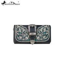 Montana West Buckle Collection Secretary Style Wallet MW592-W018