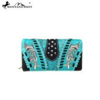 Montana West Embroidered Collection Secretary Style Wallet MW607-W010