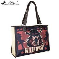 Montana West Wild West Painting Canvas Tote Bag MW626-8112