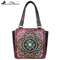 MW637-8250 Embroidered Collection Tote Bag by Montana West