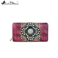 MW637-W010 Embroidered Collection Secretary Style Wallet by Montana West