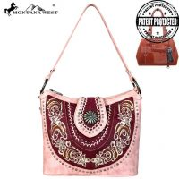 MW638G-8284 Concho Collection Concealed Handgun Hobo Bag by Montana West
