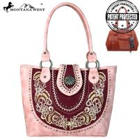 MW638G-8317 Concho Collection Concealed Handgun Tote Bag by Montana West