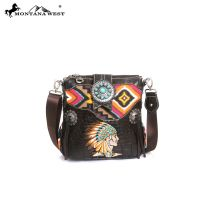 MW90-8295 Montana West Western Aztec Collection Messenger Bag Coffee