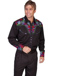 Legends Multi-Color Floral Tooled Embroidery P-634C