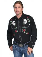 Legends Skull/Roses Embroidery (front/back) P-771