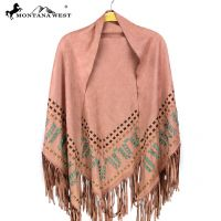 Montana West Suede-Feel Fringe Poncho