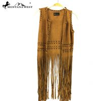 Montana West Suede-Feel Long Fringe Vest