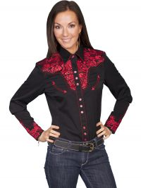 Legends by Scully Womens Western Shirt-Crimson
