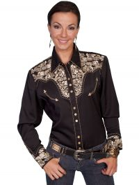 Legends by Scully Womens Western Shirt -Gold