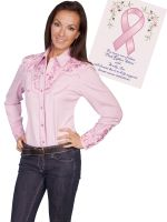 Legends By Scully Womens Western Shirt- Pink PL-654