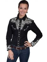 Legends by Scully Womens Western Shirt -Silver PL-654