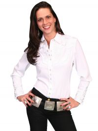 Legends by Scully Womens Western Shirt-White
