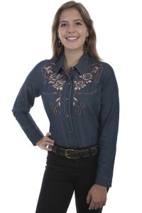 Legends  Womens Western Shirt  DENIM