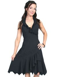 Cantina Collection 100% Peruvian cotton ruffled halter dress.
