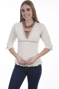 Cantina Collection by Scully 100% Peruvian natural cotton blouse.