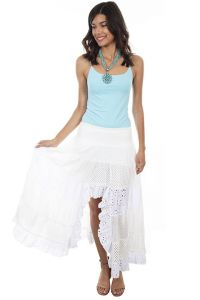 Cantina Collection, Cotton Long Tiered Lace Skirt.  PSL-245