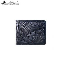 Genuine Tooled Leather Collection Phone Charging Men's Wallet PWS-W001