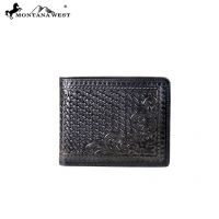 Genuine Tooled Leather Collection Phone Charging Men's Wallet PWS-W004