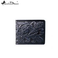 Genuine Tooled Leather Collection Phone Charging Men's Wallet PWS-W005