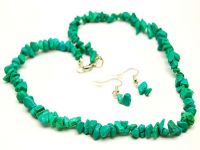 Single Strand Turquoise Necklace Set J-1173
