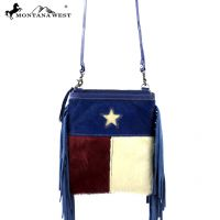 RLC-TX06 Montana West 100% Real Leather Crossbody-Navy