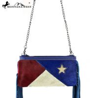 RLC-TX05 Montana West 100% Real Leather Crossbody-Navy