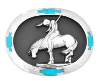 End of the Trail Belt Buckle Made in USA