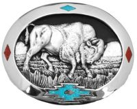 Bull Belt Buckle Made in USA