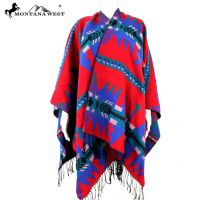 American Bling Western Aztec Pattern Cape  Poncho