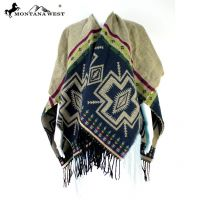 American Bling Western Reversible Aztec Pattern Poncho