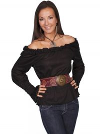 Lifestyles By Scully romantic peasant top