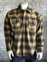 Slim Fit Plush Flannel Plaid Western Shirt SP647-TOAST by Rockmount Ranch Wear