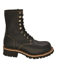 "RedHawk 9"" - T901 Black and Brown Logger - Safety Steel Toe"