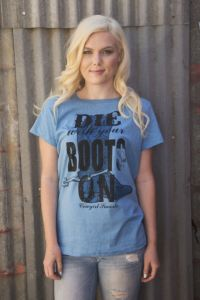 Die with your boots on tee - TL-1658