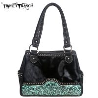 TR06-8036 Trinity Ranch Hair-on Leather Collection Handbag