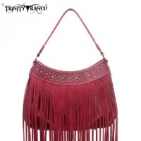 TR09-8291 Montana West Trinity Ranch Fringe Design Handbag