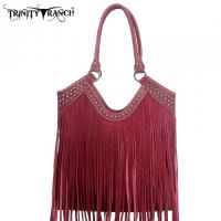TR09-8560 Montana West Trinity Ranch Fringe Design Handbag