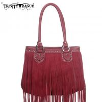TR09-8562 Montana West Trinity Ranch Fringe Design Handbag