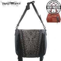 TR12G-8287 Montana West Trinity Ranch Tooled Design Concealed Handgun Collection-Black