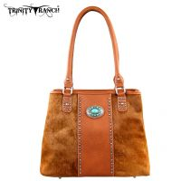 TR17-8036 Trinity Ranch Cowhide Collection Handbag-Brown