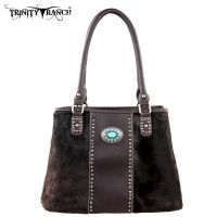 TR17-8036 Trinity Ranch Cowhide Collection Handbag-Coffee